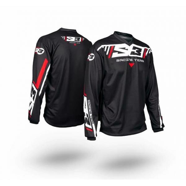 Maglia S3 TRIAL RACING TEAM PILOT BLACK