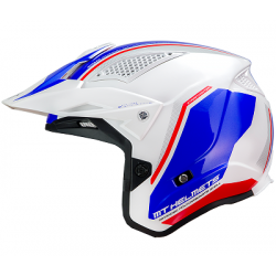 Helmet MT STREETFIGHTER (White-Red-Blue)