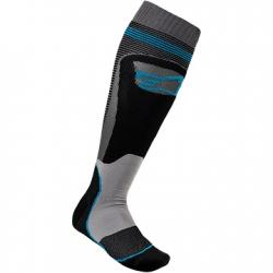 SOCK ALPINESTARS MX PLUS 1 (BLK-BLU)