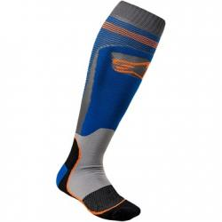 SOCK ALPINESTARS MX PLUS 1 (GR/BLUE/OR)