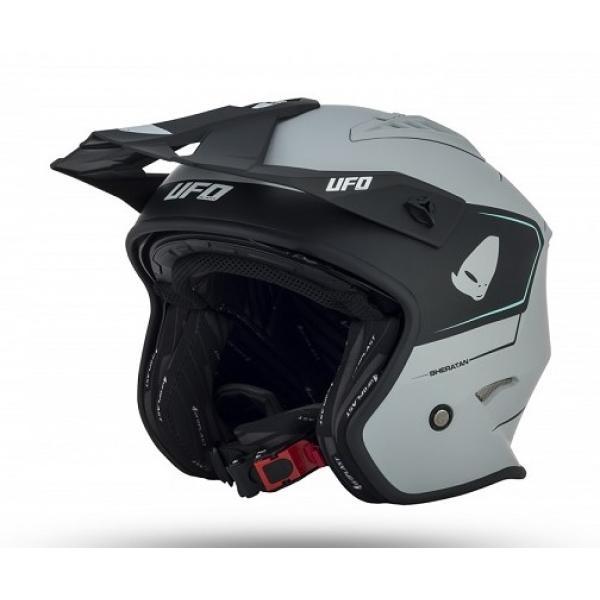 Helmet UFO (White-Black)